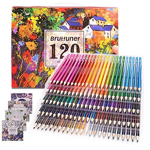 Lot de 120 crayons de coloriage pour adultes, idéal pour les artistes, les enfants, les dessinateurs, les étudiants - 4 livres de coloriage inclus…