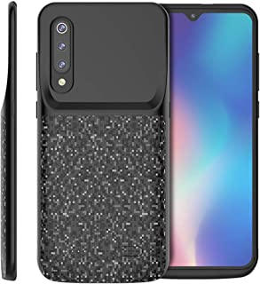 Compatible with Xiaomi Mi 9 SE Battery Case, Yuqoka 4700mAh Portable Protective Charging Case Rechargeable Backup Extended Battery Power Bank for Xiaomi Mi 9 SE Black