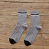 Charm4you Cómodos y Respirable para Hombres Calcetines,Nuevos Calcetines de Tubo para Hombre de Primavera y otoño-Gris 5PCS_Code,Calcetines Tobilleros Hombre