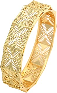 Women's Girl`s Fashion 24K Gold Plated Bangles