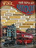 The Swinging Sixties London - Targa in Metallo per caffetteria, Pub, Hotel, Bar, Bar, Grotta