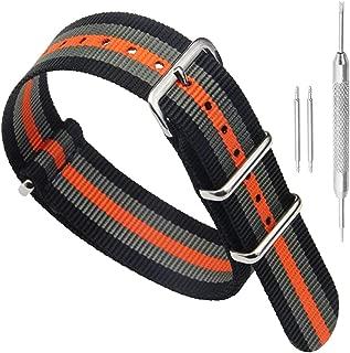 black orange grey nato strap
