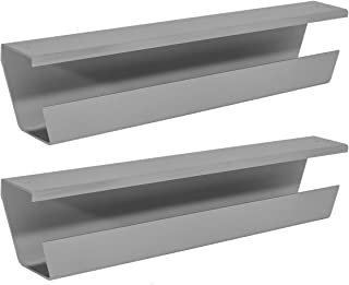 WireTamer Cable Management Tray (2 Pack, Grey)