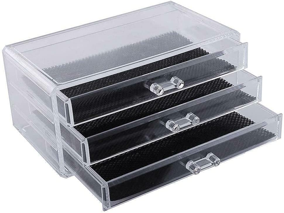 3 Drawers Acrylic Case Outlet SALE Box Jewel Cosmetic Ranking TOP9 Saving Space Organizer