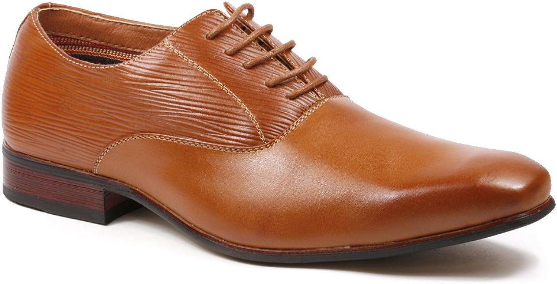 Ferro Aldo Ricky MFA19503L Men's Brown Lace Up Classic Oxford Dress shoes