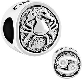 12 Zodiac Signs Charm Lucky Horoscope Beads for Charm Beacelets