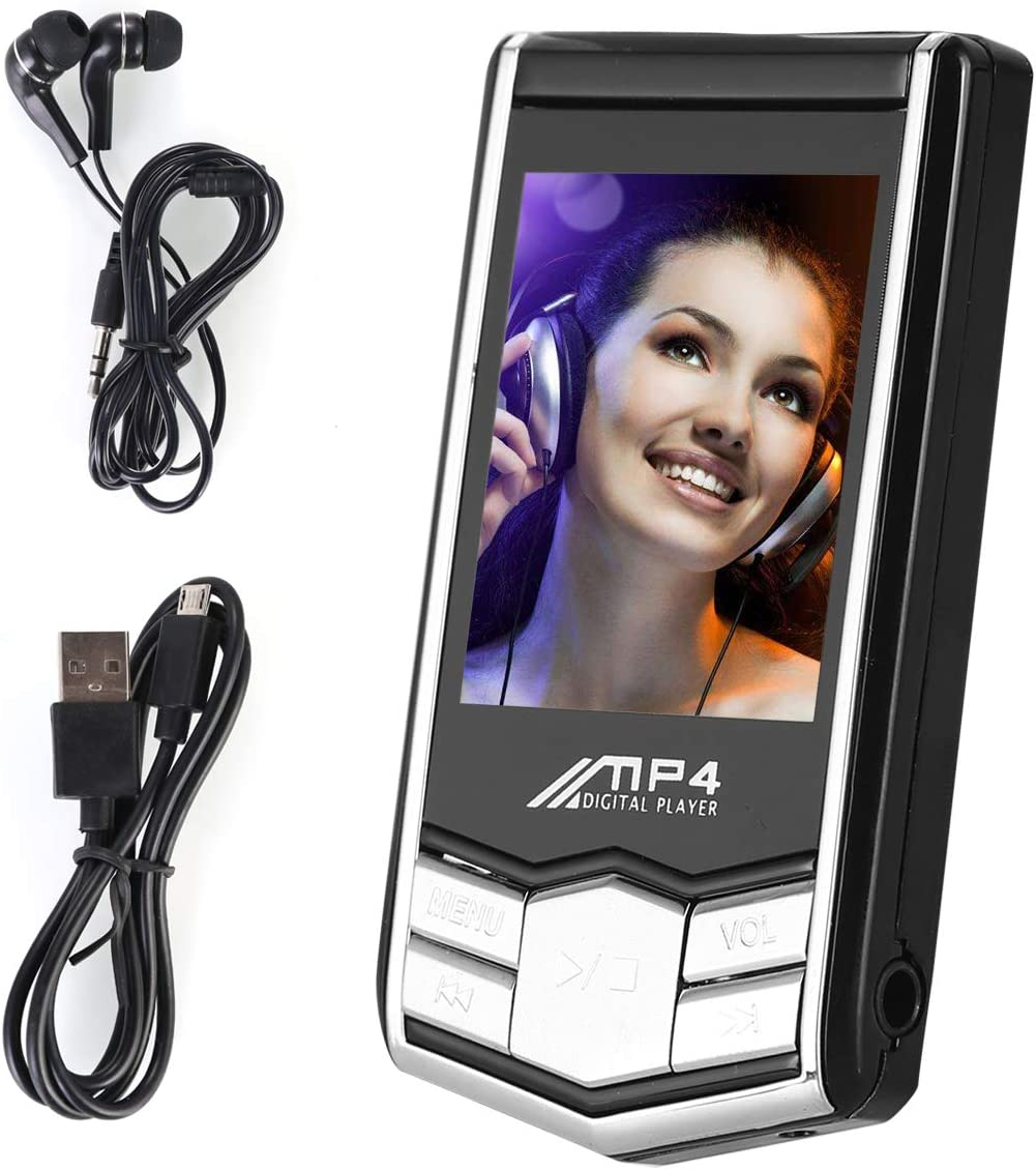 SOONHUA Ultrathin Metal Black Diamond 1.8 32GB MP4 Music Player Player LCD Screen FM Radio Digital Video Music Media