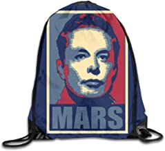 Elon Musk Mars Pop Art District - Drawstring Backpack Sports Gym Bag For Women Men Children Large Size