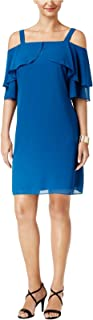 Cold-Shoulder Shift Dress, Created for Macy's XL Nocturnal Blue