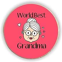 Yaya Cafe for Grandmother World Best Grandma Fridge Magnet - Round
