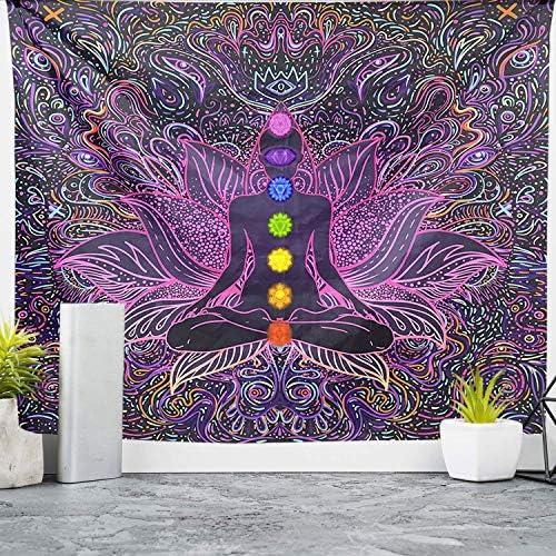 Seven Chakra Tapestry Yoga Meditation Wall Tapestry Psychedelic Mandala Hippie Tapestry Bohemian product image