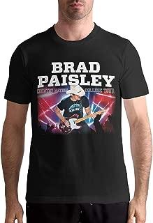 Brad Paisley Shirt Men T-Shirt Casual Classic Short Sleeve Tops