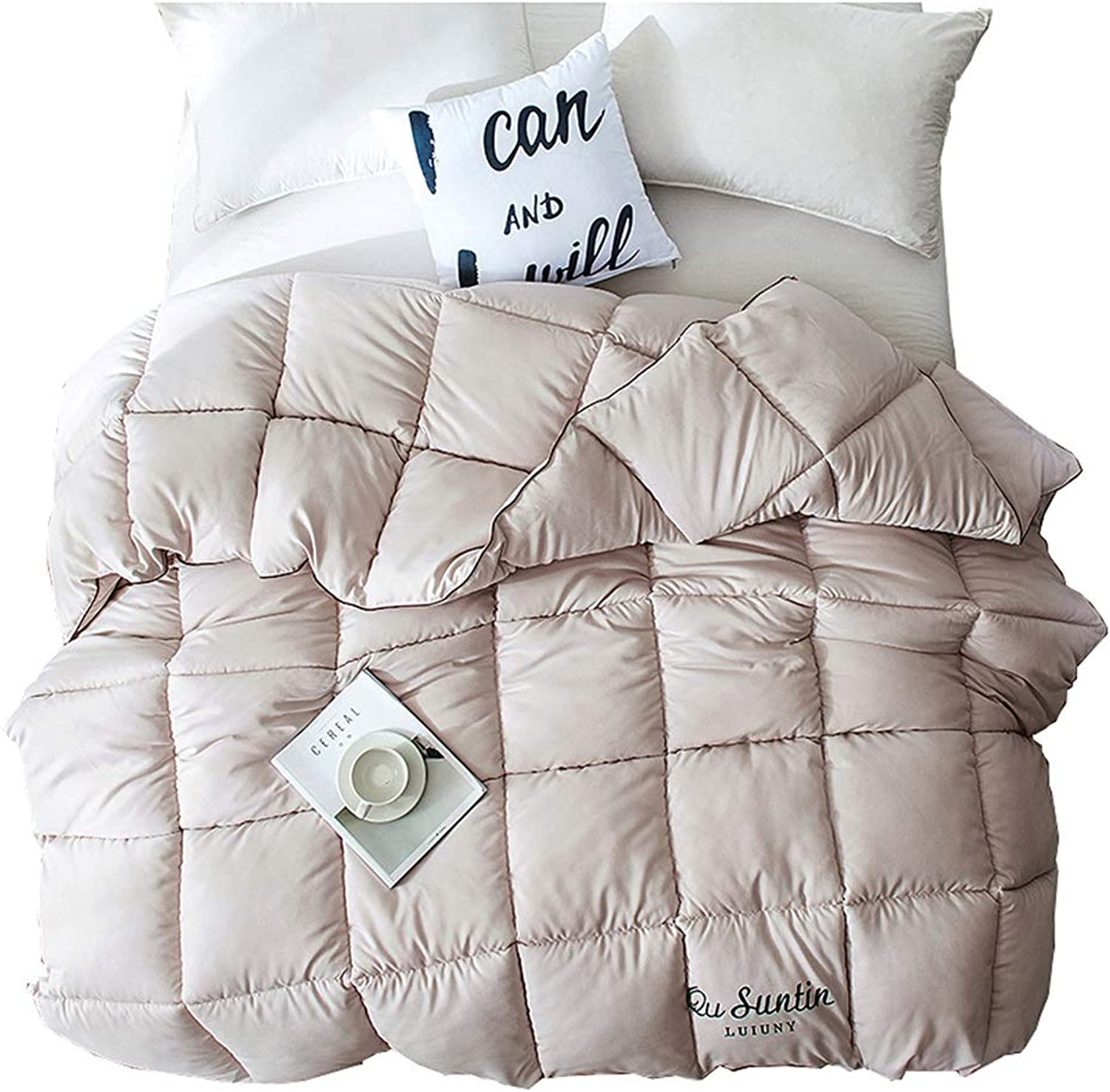 Quilt Thicken Warm and Soft for All Season All-Season Quilted Comforte Rhypoallergenic 100% Cotton Fabrics Quilted Comforter with Corner Tabs (Size   150CMx200CM2.5kg)
