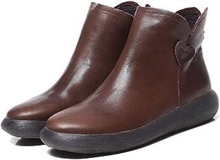 [HR株式会社] ショートブーツ レディース 厚底 ローヒール レトロ 防寒 滑り止め 歩きやすい サイズ22.0cm-25.5cm