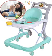 FUG Multifunctional anti-rollover height adjustable foldable baby walker boy and girl