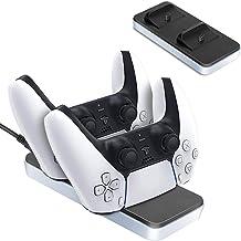 iAmer Chargeur pour Manette PS5,Chargeur Manette PS5 Station de Charge,Accessoire PS5 Chargeur PS5 DualSense avec Câble de...