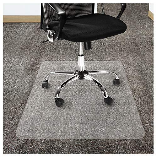 OfficeMarshal Estera de protección para alfombras - Alfombra de protección Silla | Protector Suelo Premium | Pet/PC Transparente | Varios tamaños (75x120 cm)