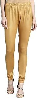 Morpankh Shimmer Churidar Leggings - Medium Gold