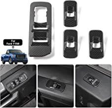 Car Window Lift Switch Panel Decoration Frame Cover Trim for 2015 2016 2017 2018 Ford F150 Accessories (Carbon Fiber)