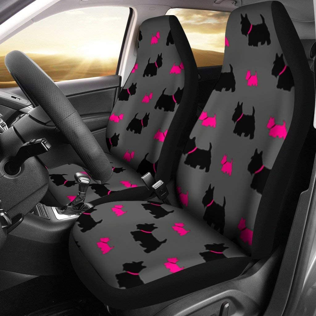 Pawlice Scottish Terrier Print Covers Car Limited price sale Limited Special Price Seat