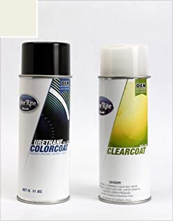 ColorRite Aerosol Automotive Touch-up Paint for Subaru Forester - Satin White Pearl Tricoat 37J - Color+Clearcoat Package