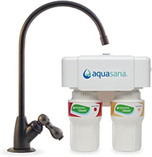 Aquasana 2-Stage Under Sink Water Filter System with Oil-Rubbed Bronze Faucet