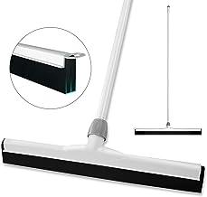 """BOOMJOY Floor Squeegee with Widen 21"""" Double Blade, Adjustable Long Handle, Foam Blade, for Bathroom, Tile Shower Floor Wiper"""