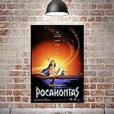 JIANGGE Gedruckte Leinwand Poster Wandbild, Pocahontas eine