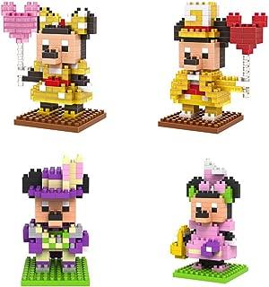 GRHOSE New 4box LOZ Diamond Block Mickey Mouse Micky Minny 650pcs Parent-child Games Building Blocks Children's Educational Toys