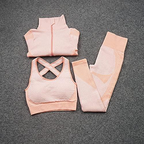 qqff Playa fiesta casual caminando ropa, ropa de fitness de secado rápido, deportes corriendo traje de yoga de tres piezas rosa, ropa casual cenas fiestas