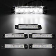 Studyset High Power 6 LED 12V Side Indicator Light Marker Lamp for Truck Bus Trailer White