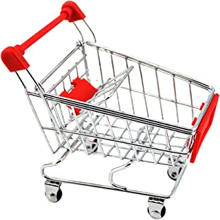 HOMYL Mini Shopping Cart Trolley Toy Red