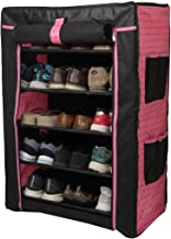 PrettyKrafts 6 Tier Portable Shoe Rack - Footwear Organizer Stand - Shoe Holder - Multipurpose Rack - Pink