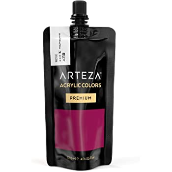 ARTEZA Acrylic Paint Rose Color (120 ml Pouch, Tube), Rich Pigment, Non Fading, Non Toxic, Single Color Paint for Artists, Hobby Painters & Kids