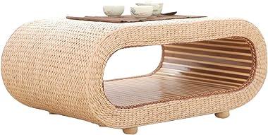 Coffee Tables Coffee Table Rattan Straw Coffee Table Home Bay Window Table Bed Coffee Table Solid Wood Tatami Coffee Table (C