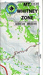 Where Is Mount Whitney On The California Map.Mount Whitney Hiking Maps Total Escape Map Shop