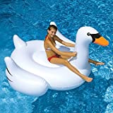 Giant Swan 60 Inch 1.5m Inflatable Ride-on Pool Toy Float Swan Inflatable Swim Ring