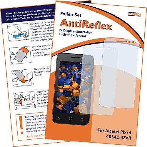 mumbi Schutzfolie kompatibel mit Alcatel Pixi 4 4 Zoll Folie matt, Bildschirmschutzfolie (2X)