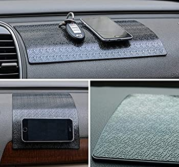 Extra Large & Thick Sticky Pad for Car Dashboard MINI-FACTORY Universal Non-Slip Grip Mat for Cell Phones Sunglasses Keys Decoration Gadgets