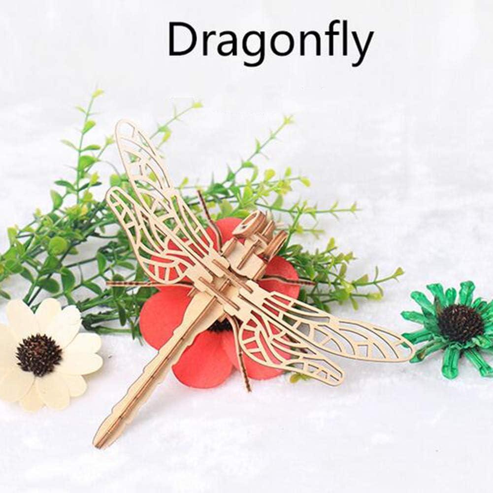 Catkoo 3D en Bois Papillon Insecte Mod/èle Puzzles DIY Assembl/ée Artisanat /Éducation Enfants Jouet Parfait Formation Enfants Intelligence Cadeaux Coccinelle #None
