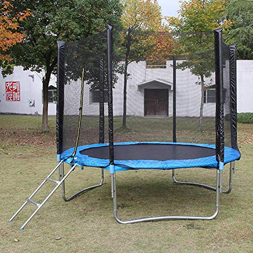 WBXZAL Garden Trampoline Ø244/305CM, Safe Children Trampoline, Complete Set, Including Upholstered Pole, Safety Net, Ladder, Outdoor Trampoline-305CM