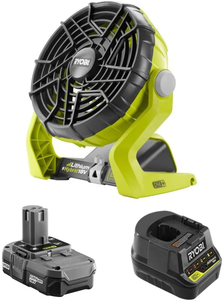Factory Reconditioned 18-Volt 再再販 Hybrid Portable Batte Kit Fan 低価格化 with