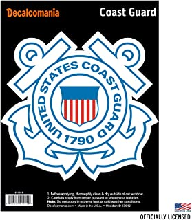 "Officially Licensed U.S. COAST GUARD DECAL - Large 6"" US Military Sticker for Truck or Car Windows - Large Military Car Decals Military Collection"
