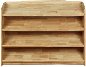 LHQ-HQ Kids Book Shelf Home Houten 4 Tier Leunend Plank Boekenkast Bookshelf Multi Use Display Opslag Planken Unit Rack