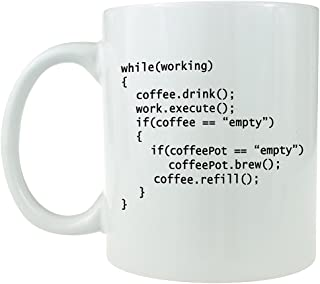 (White) - Coffee++ Programme - Ceramic Coffee Mug - Makes a Great Gift for Programmers (White)