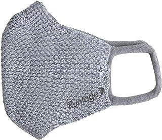 Runtage(ランテージ) メッシュマスク Runtage(ランテージ) メッシュマスク 日本製 スポーツ用 苦しくない 通気性 涼しい 速乾 耳が痛くない 布マスク 大人 (グレー)
