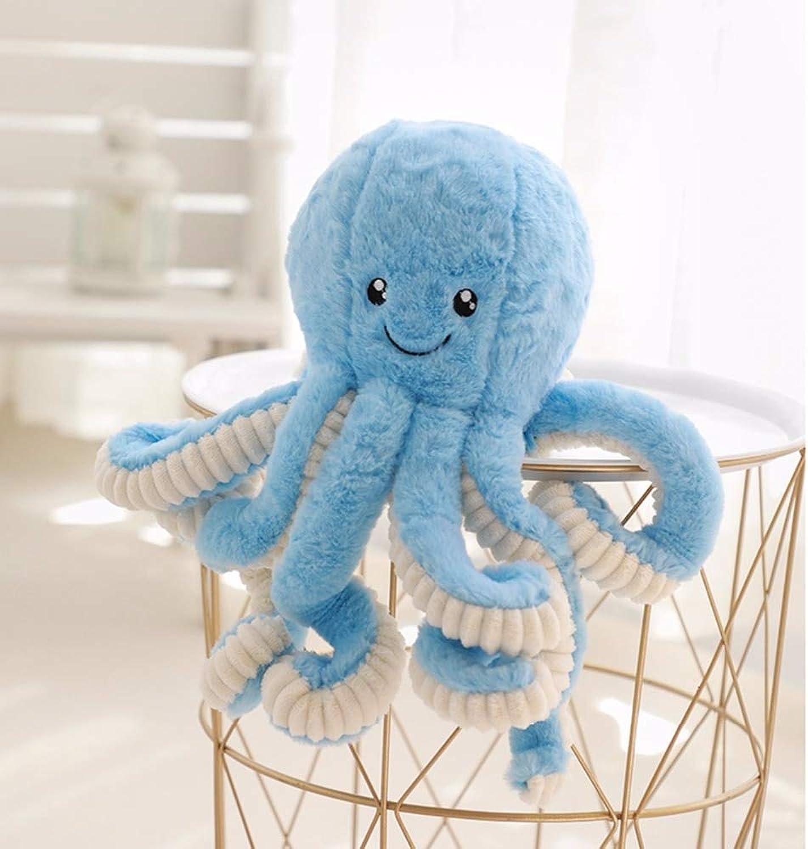 Plüschspielzeug Cute Octopus Plüschtier Octopus Whale Dolls & Stofftiere Plüsch Meerestier Spielzeug für Kinder 80CM Blau