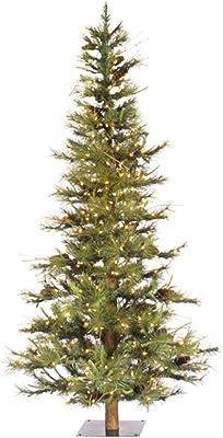 8c82348e676 Vickerman Artificial Christmas Tree Classic PVC Needles Ashland Fir Prelit  with Clear Mini Christmas Lights