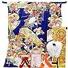 仕立て付き 正絹お振袖 フルセット32点 丹後ちりめん f-422 紺 ネイビー 四季の花 古典柄 刺繍 成人式 卒業式 結婚式