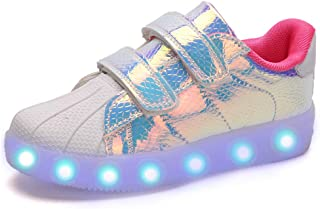 adituo LED Light Up Walking Shoes USB Rechargeable Luminous Fashion Sneakers for Kids Boys Girls (Toddler/Little Kid/Big Kid)